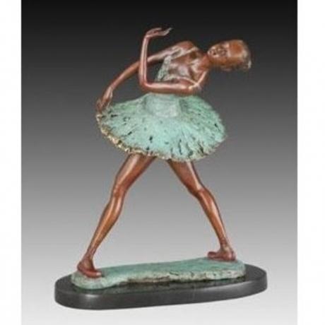 Bronze Ballet statue art collection happy Swan dance Ballet studio decoration Souvenir Ballerina Dancer JD-039