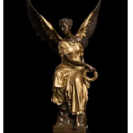 Copper decoration Fine Buddha Brass Statue Sculpture Angel statues Bronze Lost Wax casting French souvenir