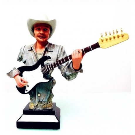 Cowboy Guitar Statue Famous Music Figure Resin Craftwork Office Show Window Hotel Living Room Decoration Musician Souvenir L2734
