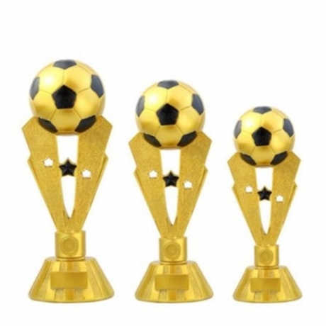 European Style Resin Football Cup Creative Sports Trophy Craftwork Statue Figurines Football Fan Souvenir Collection Gifts X1484