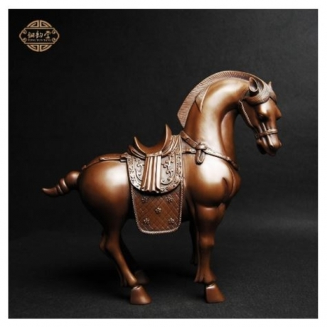 Feng Shui Home Office Decoration Chinese Brass Copper Horse Statue Twelve Zodiac Manualidades Souvenirs