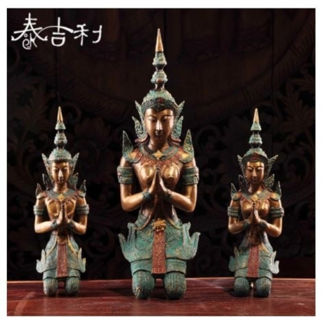 Home Decoration Thailand Bronze Beautiful Women Statue Southeast Asia Furnishing Articles Manualidades Souvenirs 2 Size