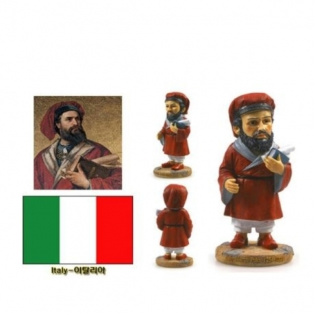 Hot Sale Hand-painted Italy Marco Polo Resin Crafts World Celebrity Statue Tourism Souvenir Gifts Collection Home Decortion