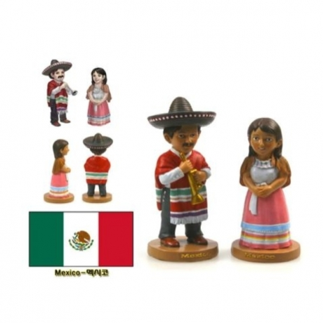 Hot Sale Hand-painted Mexico National Costumes A Pair Of Doll Statue Resin Crafts Tourism Souvenir Gift Collection Home Decor
