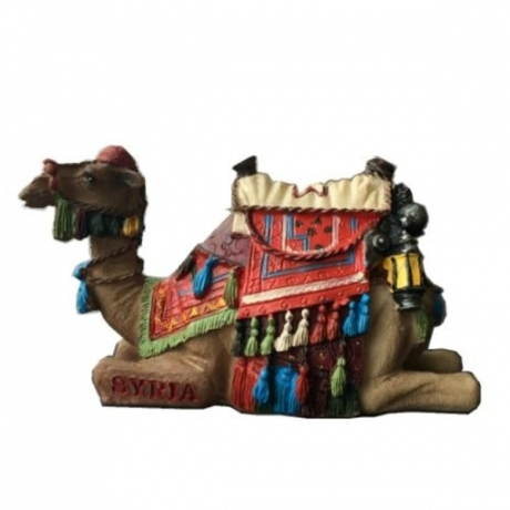 Hot Sale Handmade Painted Syria Camel Statue Creative Resin Crafts World Tourism Souvenir Gifts Collection Home Decortion