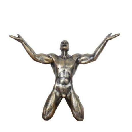 Nordic Vintage Shouter Statues Sculptures Resin Decoration Crafts Souvenir TV Cabinet Living Room Home Decoration Accessories