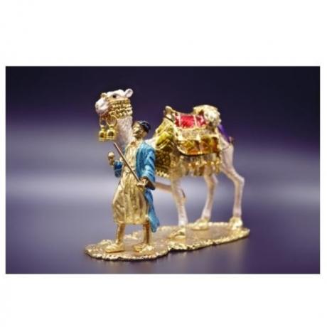 QIFU Free Shipping camel statue trinket box for souvenir