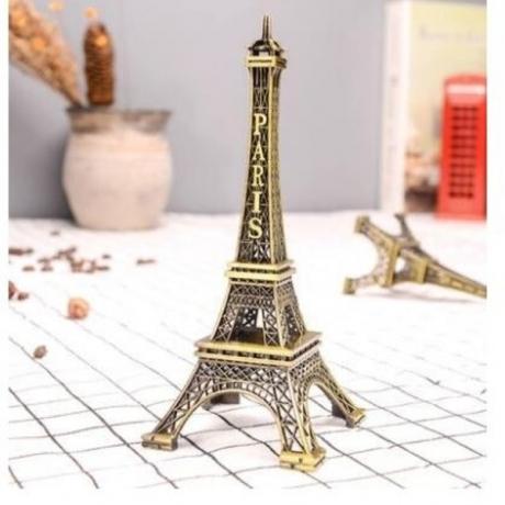 Super large Creative Gifts Metal Art Crafts Paris Tower Model Figurine Zinc Alloy Statue Travel Souvenirs Home Decorations