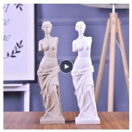 VILEAD 9.4'' Venus Statues Nature Sand Stone Venus Figurines Miniatures Statuettes Creative Gifts Souvenirs Vintage Home Decor