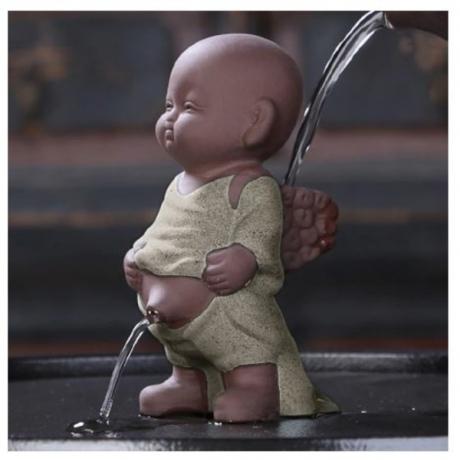 Yixing Purple Clay Tea Pet Spray Water Monk Statue Tea Ceremony Accessories Tea Tray Decor Crafts Souvenir Zisha Boutique Gifts