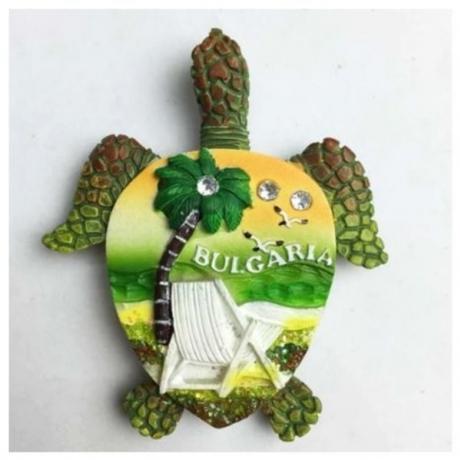 1 Pc Creative Europe Black Sea Full 3D Bulgaria Turtle Refrigerator Magnet Fridge Magnet Travel Souvenir Home Decor Accessories