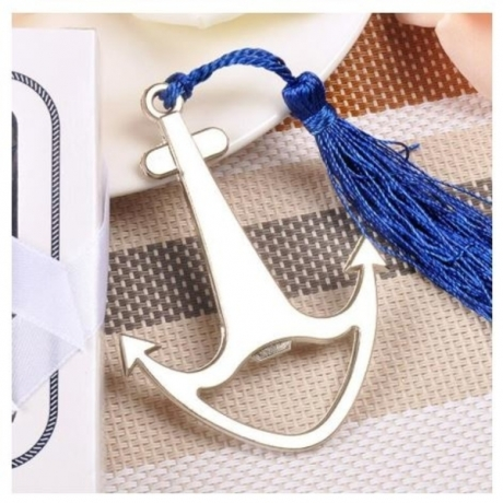 10pcs/lot Wedding Souvenir Ship Anchor Shape Bottle Opener Party Small Gift With Box For Wedding Decorations Accessories