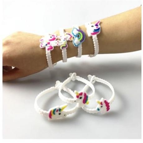10ps/lot Unicorn Party Children Gift Rubber Bangle Bracelet Birthday Party Decorations Kids Baby Souvenirs Party Favors Supplies