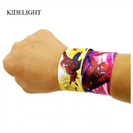 12PCS Hero Spider Man Slap Bracelets baby shower boy favor kids birthday party favor souvenir party supply