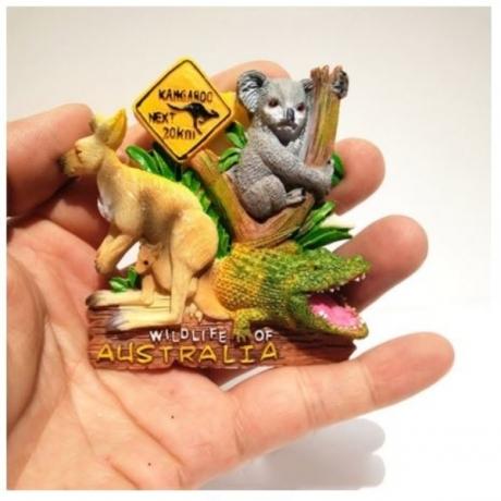 1pcs cute Australia Crocodile Kangaroo Koala Fridge Magnets Home Decoration Magnetic Refrigerator Sticker Travel Souvenirs