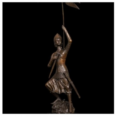 ATLIE Big Size Bronze Sculpture Soldier in Triumph Statues Warrior Bronze Figurines Souvenirs Business Gifts Collection