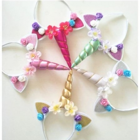 Baby Shower Unicornio Headband Happy Birthday Party Decorations Kids Unicorn Party Favors Baby Souvenirs Chirldren Gift Supplies