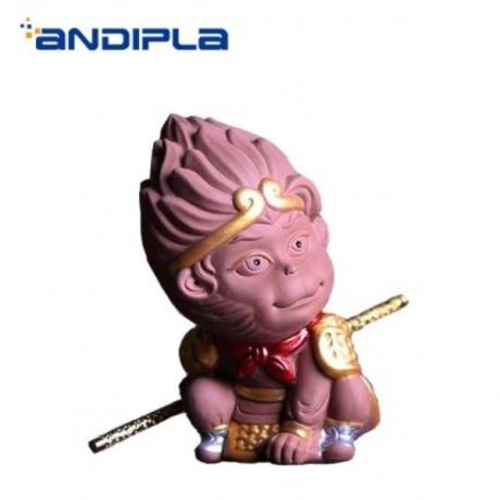 Creative Boutique Tea Pet Natural Purple Clay Monkey Statue Tea Ceremony Accessories Crafts Home Decoration Adornment Souvenir