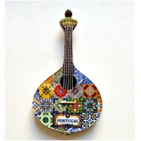 Handmade Painted Portugal Guitar 3D Resin Fridge Magnets Tourism Souvenirs Refrigerator Magnetic Stickers Gift