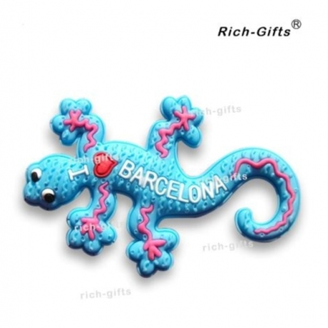 OEM/ODM Customized Promotion Gifts With Your Logo Soft Rubber Fridge Magnets Souvenir Spain Barcelona Gecko 1000PCS/Lot (RC-SN)