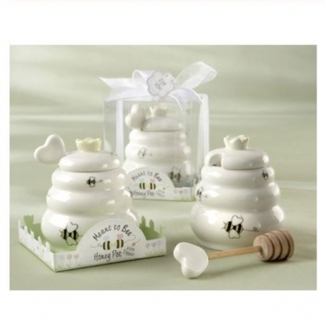 Wedding souvenirs of Meant to Bee Ceramic Honey Pot for Bridal shower birthda gift and baby decoration favors