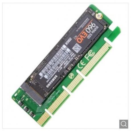 CY SA - 001 NGFF M-key NVME AHCI to PCI-E 3.0 x1 SSD - Green Apple