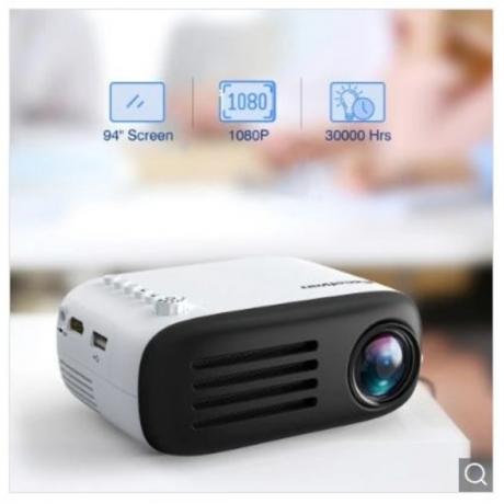 Excelvan YG200 projector - Black EU Plug