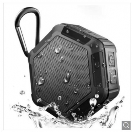 Portable Wireless Outdoor Shower Bluetooth 4.0 Speaker with IP67 Waterproof Function - Black 2
