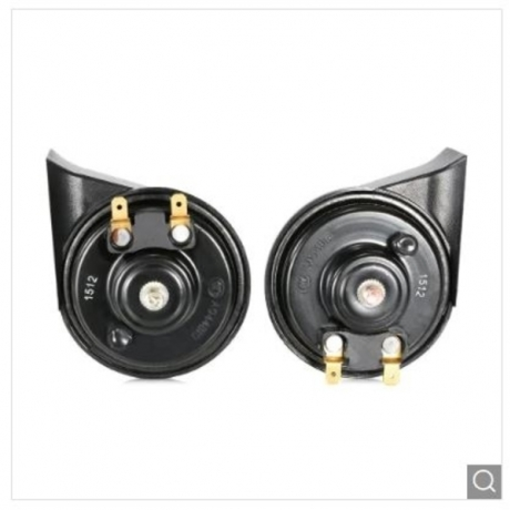 DL133 - 5HL 12V 105dB Snail Electric Horn 2pcs - Black