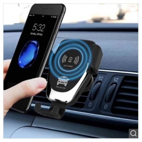 Gocomma 10W QI Wireless Fast Charger Car Mount Holder - Black