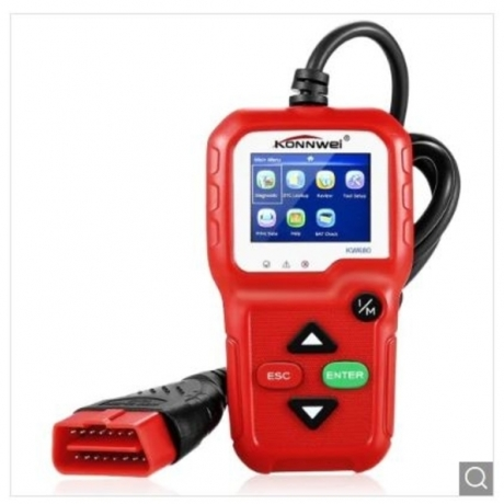 Konnwei KW680 CAN OBD2 / EOBD Auto Code Scanner - Red