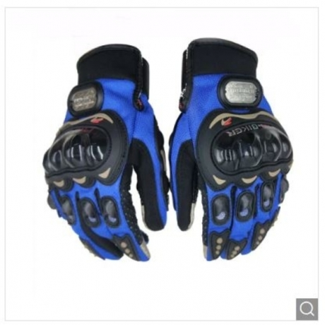 PRO-BIKER MCS - 01C Motorcycle Racing Touch Screen Antiskid Gloves - Blue M