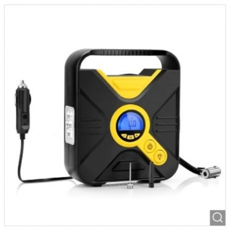 Tecney Portable Digital Car Tire Inflator Pump - Yellow yellow+black