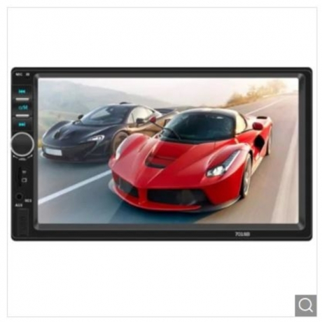 7018B HD Large Screen Digital Navigator Car Bluetooth MP5 Player - Black