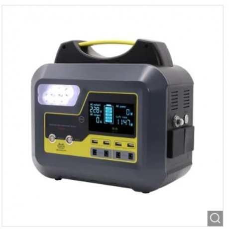 BOSSCAT AY-006 500W Outdoor Portable Power Station UPS with DC AC USB Output Port - Yellow