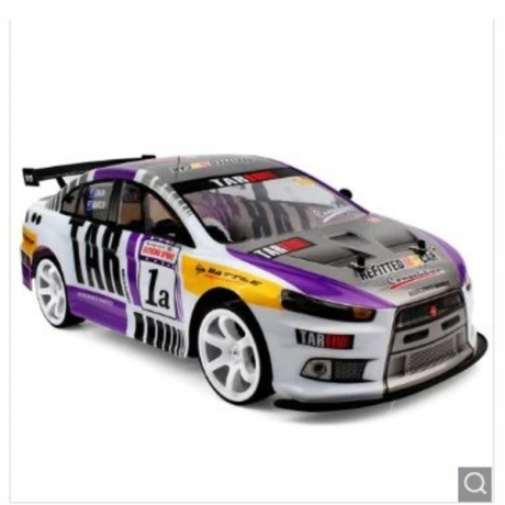 1 : 10 Four-wheel Drive Remote Control High-speed Car Toy - Purple