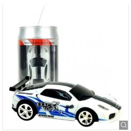 2010b 1/58 Mini Ring-pull Can RC Car Toy Gift for Children - White