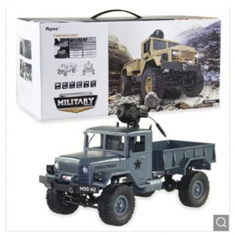 FY001A 1/16 WiFi 0.3MP Brushed Military Truck RTR - Mist Blue