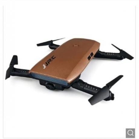 JJRC H47 ELFIE+ Foldable RC Pocket Selfie Drone - RTF - Coffee Standard Version