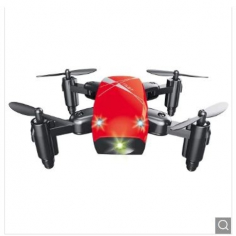 S9 Micro Foldable RC Drone - RTF - Red Standard Version