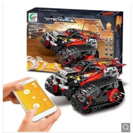 13036 DIY Electric Stunt Racing Crawler Building Blocks - Red