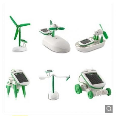 6-in-1 Educational Solar Toy DIY Kit - Green