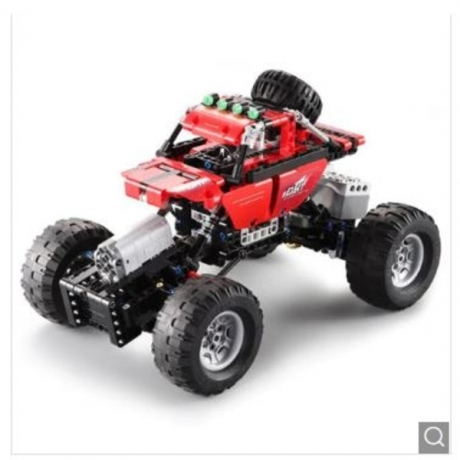 CaDA Assembling Building Blocks Off-road Car Toy - Love Red
