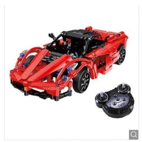 CaDA C51009W Remote Control Building Block Running Car for Entertainment - Lava Red