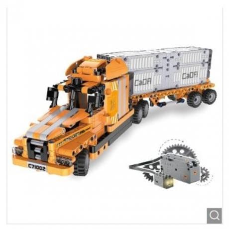 CaDA C71002W Block Toy High Simulation Port Engineering - Orange