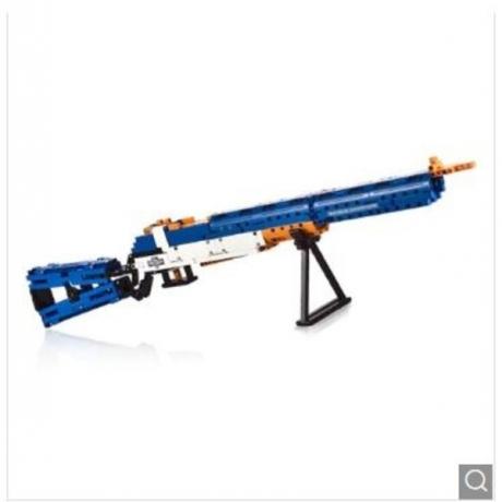 CaDA C81002W M1 Type Garand Rifle Building Block Toy - Blue