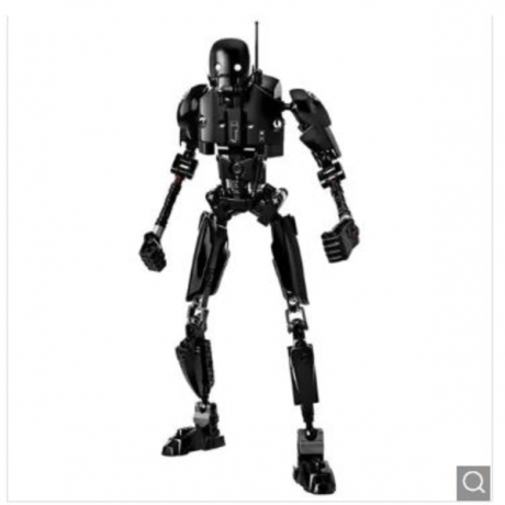 Creative Black Robot Block Toy - Black