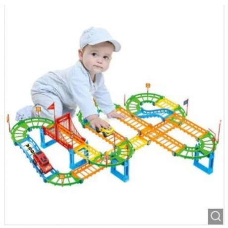 Creative Shape Changeable Track Building Block Toy 92pcs - Multi