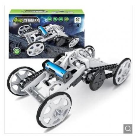 DIY 4WD Crawler Climber Car Model Kids Toy Gift - Gray Cloud
