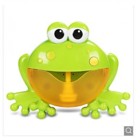 Frog Shape Spit Bubble Machine Bath Toy with Music - Green